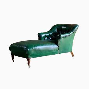 Antique Napoleon III Chaise Longue, 1860s