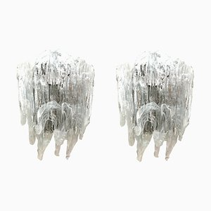 Murano Sconces from Mazzega, 1970s, Set of 2
