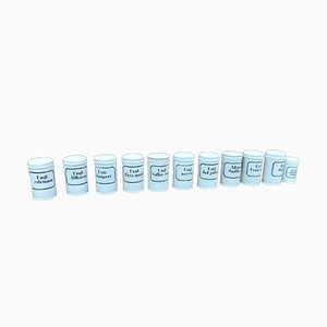 Vintage Porcelain Pharmacy Containers, 1940s, Set of 10