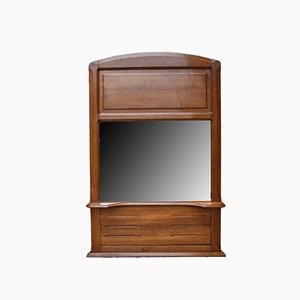 Art Nouveau Oak Mantel Mirror, 1910s