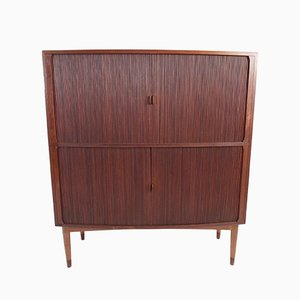 Danish Teak Buffet with Tambour Doors, 1959