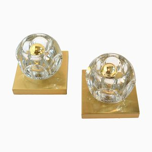 Vintage Cube Wall Lamps from Peill & Putzler, Set of 2