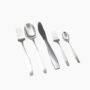 Danish Cutlery Set by Karl Gustav Hansen for Hans Hansen & Rosenthal, 1960s