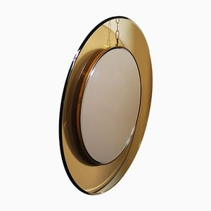 Round Mirror with Curved Glass by Max Ingrand for Fontana Arte, 1960s