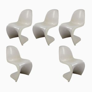 S Chair by Verner Panton for Fehlbaum, 1972, Set of 5