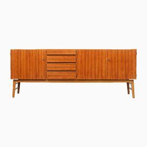 Großes verstellbares Sideboard aus Nussholz, 1960er