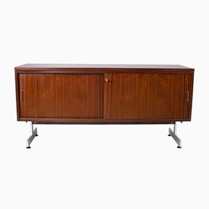 Modernist Rosewood & Aluminum Sideboard, 1970s