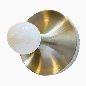 Runde Wandlampe aus Aluminium von Honsel, 1970er