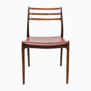 Beistellstuhl aus Palisander von Niels Moller für J.L. Møllers, 1960er