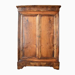 Small 19th-Century French Louis Philippe Walnut Armoire