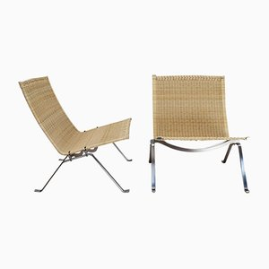 PK22 Lounge Chairs by Poul Kjaerholm for Fritz Hansen, 1990s, Set of 2