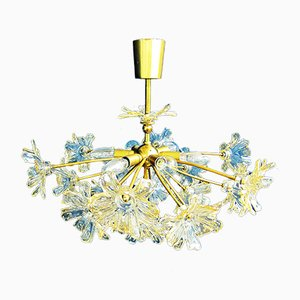 Hollywood Regency Style Floral Sputnik Chandelier, 1970s