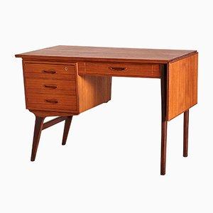 Erweiterbarer dänischer Mid-Century Schreibtisch aus Teak, 1960er