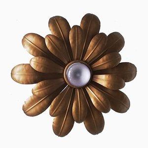 Decken- oder Wandlampe in Blumen-Optik, 1970er