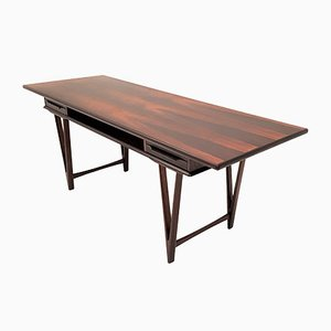 Brazilian Rosewood Model 32 Coffee Table by E.W. Bach for Toften, 1961
