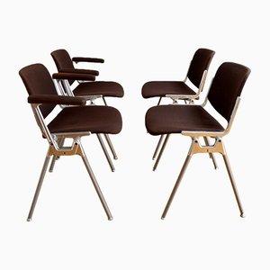 Chaises DSC 106 par Giancarlo Piretti pour Castelli, 1960s, Set de 4