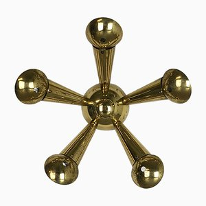 Italian Brass Wall or Ceiling Light, 1950s