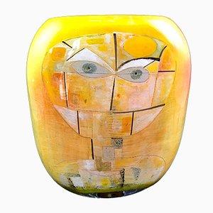Gelbe Vase aus geblasenem Glas von Ada Loumani, 2019