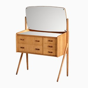 Vintage Danish Oak Dressing Table, 1960s