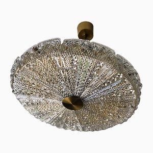 Lampada in cristallo di Carl Fagerlund per Orrefors