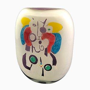 Mehrfarbige Vase aus geblasenem Glas von Ada Loumani, 2019