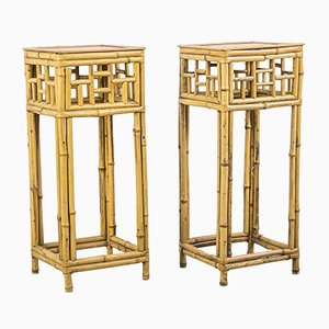 Bamboo Console Tables, 1960s, Set of 2