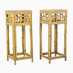 Konsolentische aus Bambus, 1960er, 2er Set