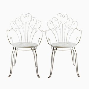 Bent Garden Chairs, 1980s, Set of 2