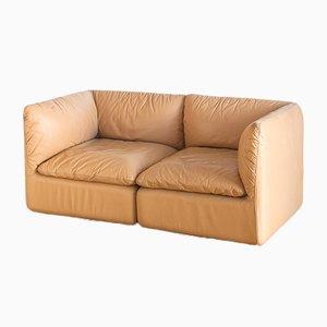 Modular Leather Sofa Set, 1970s