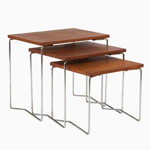 Tavolini ad incastro vintage in legno