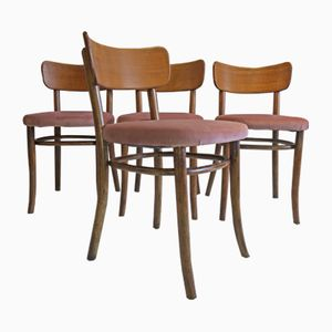 Esszimmerstühle aus Bugholz von Magnus Stephensen für Fritz Hansen, 1930er, 4er Set