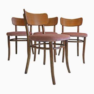 Sedie da pranzo in legno curvato di Magnus Stephensen per Fritz Hansen, anni '30, set di 4