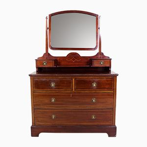 Antique Edwardian Mahogany Dressing Table with Drawers