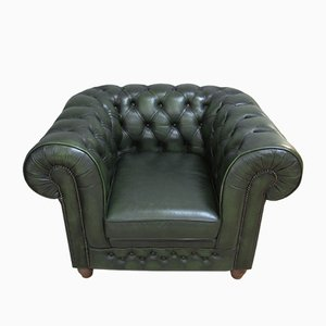 Vintage Chesterfield Leather Armchair