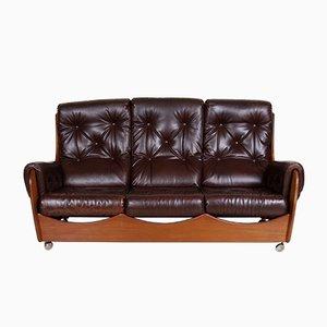 Vintage 3-Sitzer Sofa mit Gestell aus Teak von G-Plan