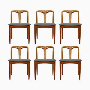 Vintage Model Juliane Chairs by Johannes Andersen for Uldum Møbelfabrik, Set of 6