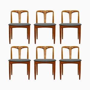Vintage Modell Juliane Esszimmerstühle von Johannes Andersen für Uldum Møbelfabrik, 6er Set