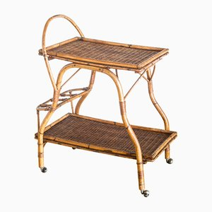 French Rattan Trolley, 1970s