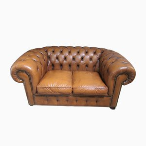 Canapé Chesterfield Vintage en Cuir
