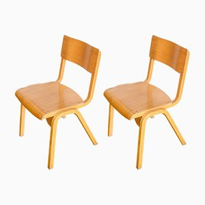 English School Chairs, 1970s, Set of 2