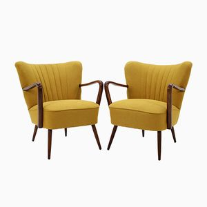 Czechoslovakian Lounge Chairs, 1950s, Set of 2