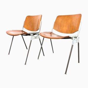 Beistellstühle von Giancarlo Piretti für Castelli, 1960er, 2er Set