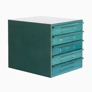 Schubladenbox aus Metall, 1970er