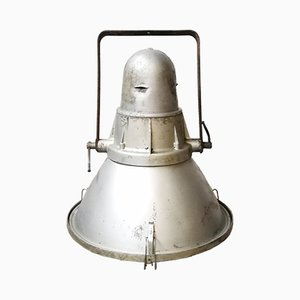 Industrielle Fabriklampe aus Aluminium, 1950er