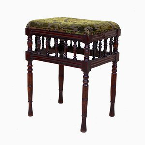 19th Century Victorian Mahogany Piano Stool