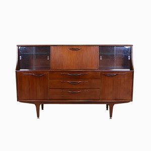 Vintage Teak Glazed Sideboard with Bar Cabinet, 1970s
