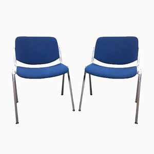 DSC106 Chairs by Giancarlo Piretti for Anonima Castelli, 1970s, Set of 2