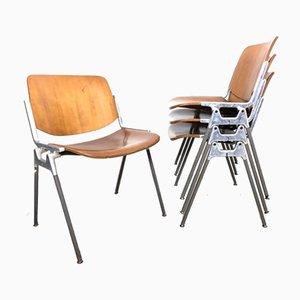 Esszimmerstühle von Giancarlo Piretti für Castelli, 1960er, Set of 4