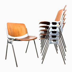 Dining Chairs by Giancarlo Piretti for Anonima Castelli, 1960s, Set of 6