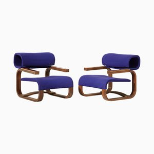 Poltrone moderniste di Jan Bocan per Thonet, 1972, set di 2